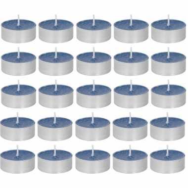30x geurgeurkaarsen oceaan/paarsblauw 4 branduren