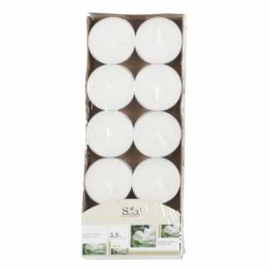 Geur geurkaarsen jasmijn wit 10 stuks