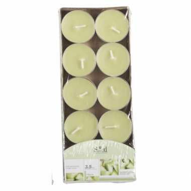 Geur geurkaarsen meloen groen 10 stuks