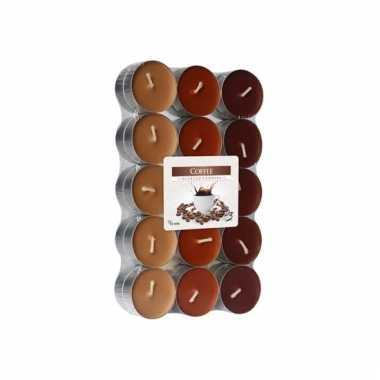 Koffie geurkaarsen 30 stuks