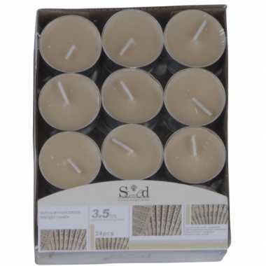 Sandelhout geur geurkaarsen 24 stuks