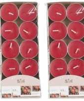 20x geurgeurkaarsen aardbei rood 3 5 branduren