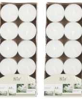 20x geurgeurkaarsen jasmijn wit 3 5 branduren