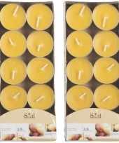 20x geurgeurkaarsen mango geel 3 5 branduren