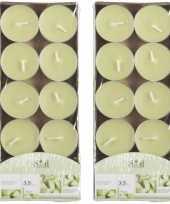 20x geurgeurkaarsen meloen lichtgroen 3 5 branduren