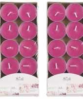 20x geurgeurkaarsen rozen roze 3 5 branduren