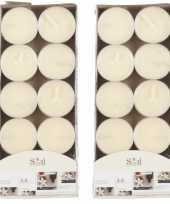 20x geurgeurkaarsen vanille cremewit 3 5 branduren