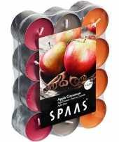 24x geurgeurkaarsen apple cinnamon 4 5 branduren