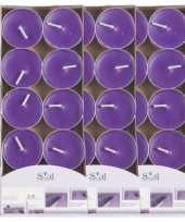 30x geurgeurkaarsen lavendel paars 3 5 branduren