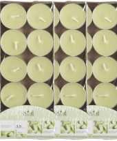 30x geurgeurkaarsen meloen lichtgroen 3 5 branduren