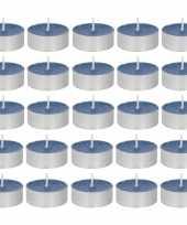 30x geurgeurkaarsen oceaan paarsblauw 4 branduren