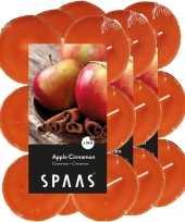 36x maxi geurgeurkaarsen apple cinnamon oranje 10 branduren