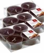 36x maxi geurgeurkaarsen chocolade bruin 8 branduren