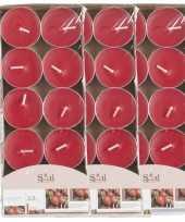 40x geurgeurkaarsen aardbei rood 3 5 branduren