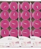 40x geurgeurkaarsen rozen roze 3 5 branduren
