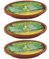 6x stuks anti muggen citronella kaarsen in schaaltje 10301135