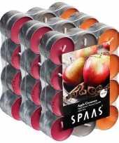 72x geurgeurkaarsen apple cinnamon 4 5 branduren