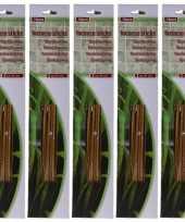 75x stuks anti muggen citronella wierook sticks