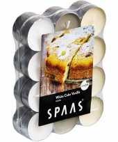 96x geurgeurkaarsen white cake vanilla 4 5 branduren