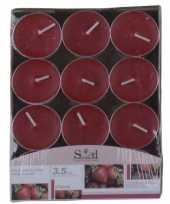 Aardbei geur geurkaarsen 24 stuks